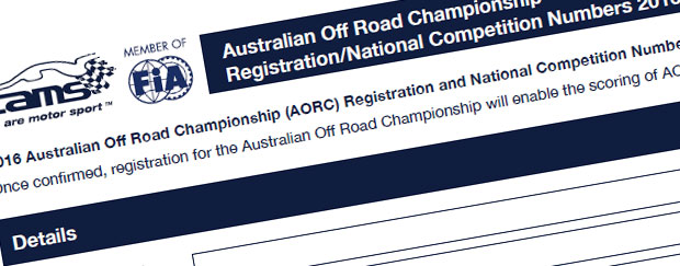 Registrations Open for 2016 AORC and National Competition Numbers