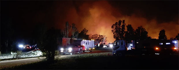 Nabiac evacuated from bushfire